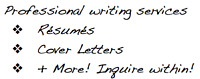 Affordable & Professional Writing Services (starting at $25)