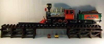 Model Railroad G Gauge LOWBOY Trestle & Bridge / Wooden Low Boy / G Scale Trains for sale  Knox