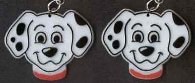 Big Funky 101 DALMATIONS EARRINGS Disney Puppy Dog Fire Fighter Costume Jewelry (101 Dalmations Costume)