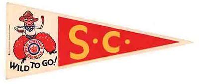 USC   University  Trojans  pennant   Vintage Style 1960's Travel Decal Sticker Usc Trojans Pennant