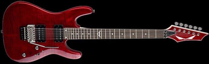 DEAN GUITARS CUSTOM 350 Floyd-Trd Red Electric Guitar