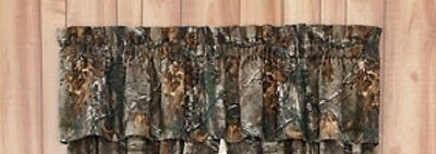 Realtree Xtra Camo Valance - Cabin Bedding Hunting Window Treatment Wildlife -