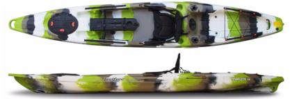Kayak plus fishing accessories, used once - Moken 14