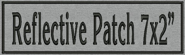 """Custom Embroidered Ribbon, Name Tag Biker Reflective Patch,  rectangle  7"""" x 2"""""""