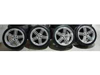 """20"""" GENUINE AUDI RS6 ALLOY WHEELS AND TYRES TO FIT A5 A6 A7 A8 S/RS"""