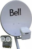 BRAND NEW BELL OR DISHNET SATELLITE DISH WITH DP QUAD LNB'S