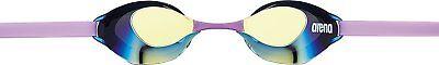 Arena Swimming Goggle Anti-fog Non Cushion Mirror AGL130M Yellow Smoke Purple