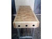 Butchers Block 6ft by 2ft and Stand