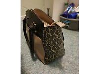 New look leopard handbag great condition