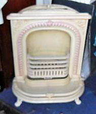 Antique Cast Iron Parlor Stove for Christmas Decorating