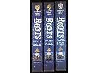 Complete boxed set of 3 VHS videos of the TV drama Roots