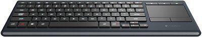 Logitech K830 Wireless beleuchtete Wohnzimmer-Tastatur (Deutsches Layout) ()