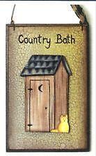 Outhouse bathroom decor ebay for 8x7 bathroom ideas