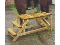 Custom made mounting blocks & showjumping poles