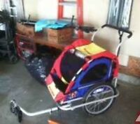 Bike Trailer & Wagon with pull behind trailer