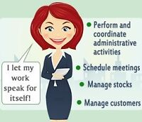Administrative assistant for hire