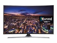 SAMSUNG CURVED 4K TV AND SMALL HD TV WITH BUILT IN DVD PLAYER