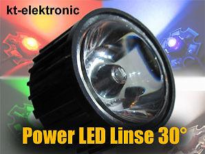 1 Stück 30° Linse Optik Reflektor für 1W 3W 5W Power LED