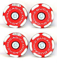 DUCABIKE Hypermotard 821 Frame Plug Kit - Red - New