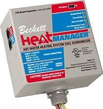 Beckett heat manager for hot water boiler furnace (new)