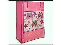 Girls canvas Owl wardrobe