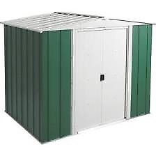 8 x 6 Greenvale Apex Metal Shed. New. Flatpack. PICK UP TODAY..