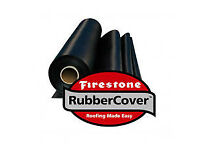 Rubber roofing - rubber sheet, adhesive and gutter trim