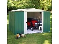 10 x 8 Apex Metal Shed. New