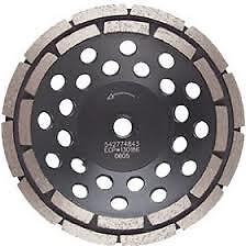 "Husqvarna 542774843 7"" Double Row Cup Grinding Disc"