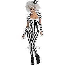 BEETLEJUICE FANCY DRESS OUTFIT SIZE 10/14 AS IT HAS A LACE UP BACK WITH INSERT NO WIG