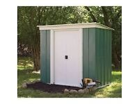6 x 4 Metal Shed. Pent Roof. New.