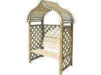 Kashmir Garden Arbour. New. Flatpack. PICK UP TODAY IF NEEDED