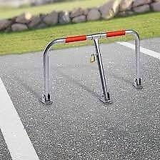 Jago Steel Barrier Folding Lockable Anti Theft Car Parking Barrier Width: ca. 27in / 68cm NEW UNUSED