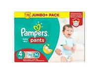 Size 4 pampers pull up nappies