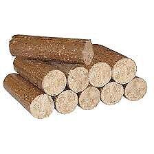 Mechanically pressed hardwood log firewood