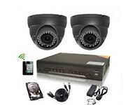 cctv camera system 4 channel dvr with 500 gb and 2 hd cameras full system