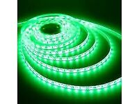 LED LIGHT STRIP GREEN WATERPROOF DECORATION DIY LIGHTING 5M 300 BULBS FLEXIBLE FOR HOME AND CAR