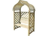 Kashmir Garden Arbour, Seat, Bench. New. Flatpack.PICK UP TODAY.