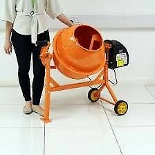 Used - 240V 220W PORTABLE ELECTRIC CONCRETE CEMENT MIXER MORTAR PLASTER