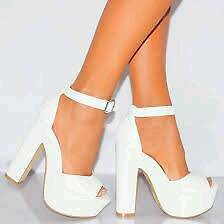 White high heels size 5