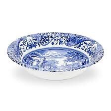 Spode Blue Italian 8 inch Cereal Bowls Set... brand new