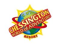chessington world of adventures -Two day Adult tickets for 8/9/2021