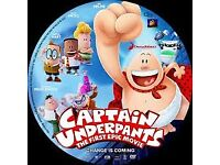 captain underpants DVD brand new unused unopened only £6.