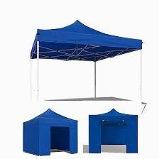 Brand new blue awning only opened up once. Perfect for a market stall or home gazebo. Size: 3m x 3m.