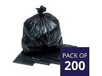 25 bags of stripped wallpaper in bin bags