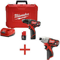 milwaukee  m12 two drill and impact set