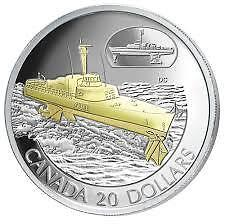 2003 Canada Transportation HMCS Bras d'Or $20 Silver Coin