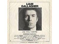 Liam Gallagher Old Trafford cricket ground 18th Aug 2018 ticket