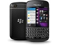 BLACKBERRY Q10 UNLOCKED IN MINT CONDITION WITH CHARGER NO TIMEWASTERS