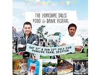 Free ticket to an audience with gino d'acampo and saturday entry to yorkshire dales food festival